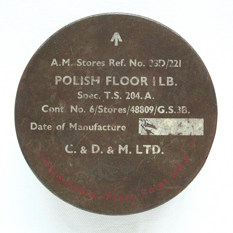 Air Ministry Floor Polish Tin