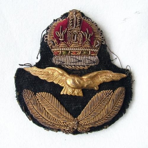 RAF Officer Rank Service Dress Cap Badge