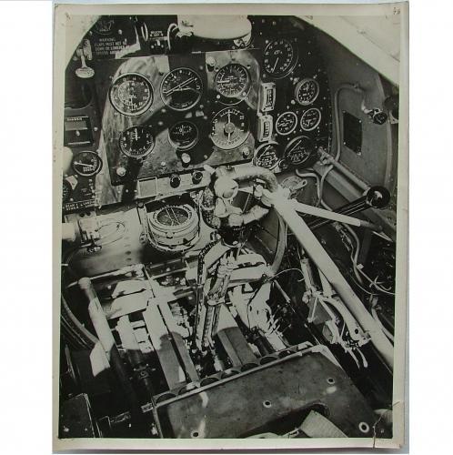 Press Photo - Spitfire Cockpit