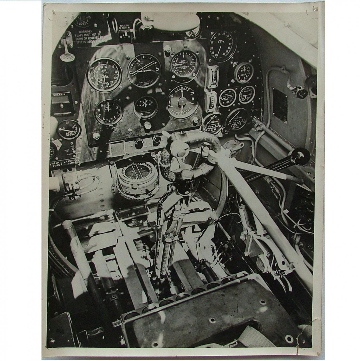 Press Photo - Spitfire Cockpit