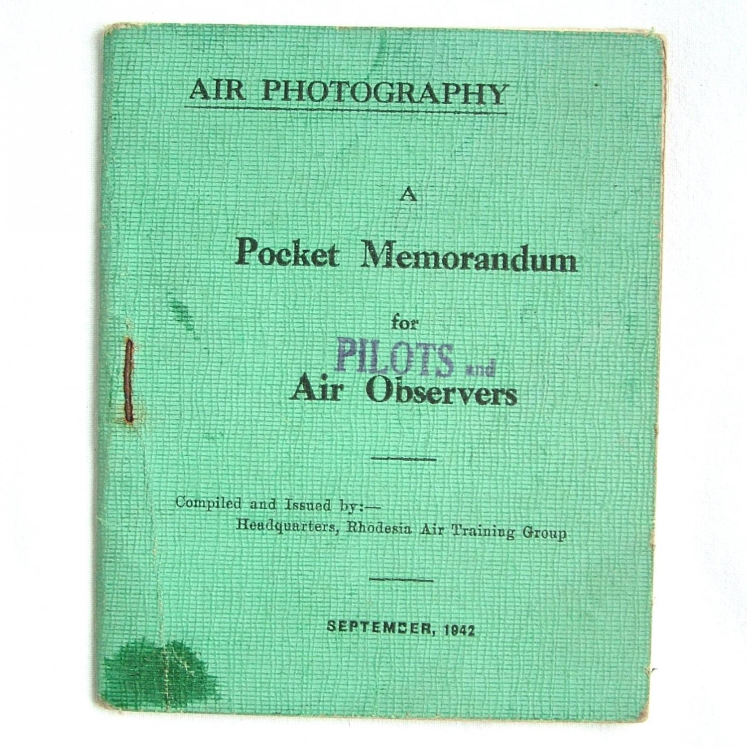 Air Photography Booklet, 1942