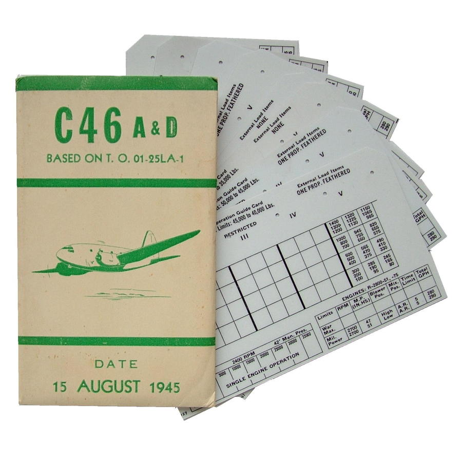 USAAF C-46 Aircraft Flight Operation Cards