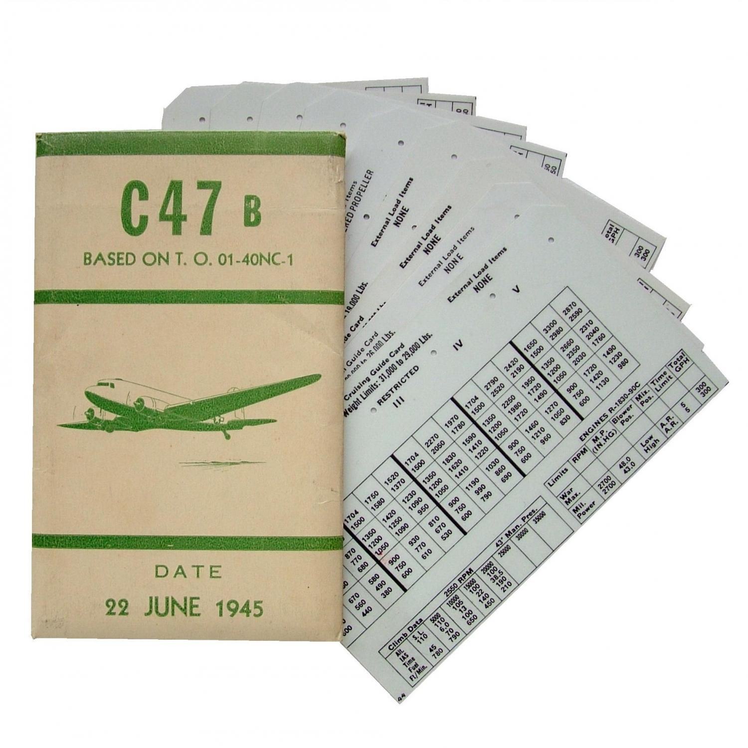 USAAF C-47 Aircraft Flight Operation Cards