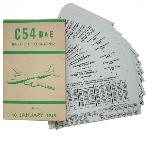 USAAF C-54 Aircraft Flight Operation Cards