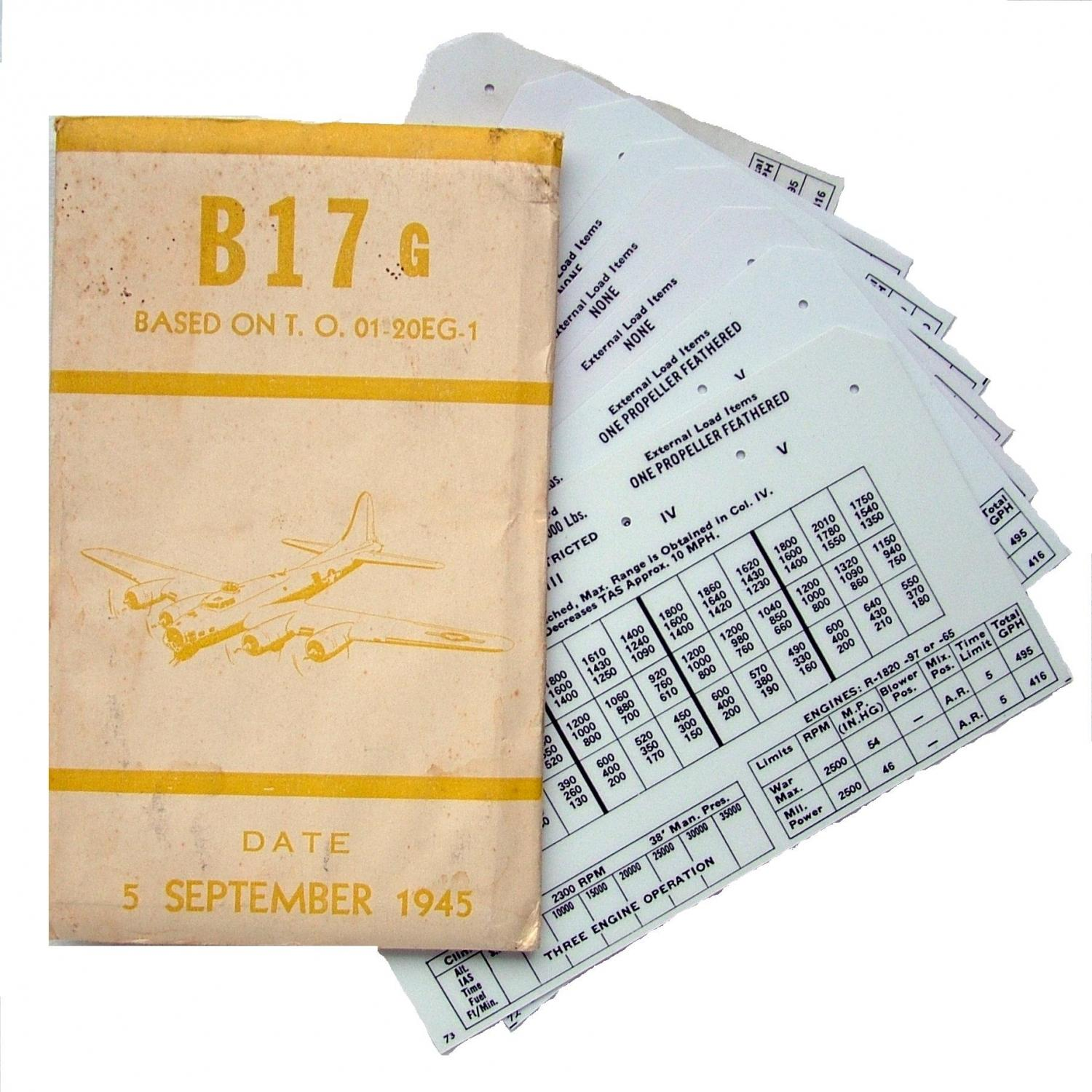 USAAF B-17 Aircraft Flight Operation Cards