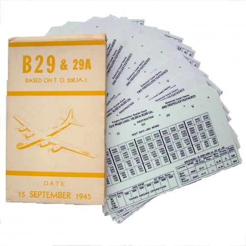 USAAF B-29 Aircraft Flight Operation Cards