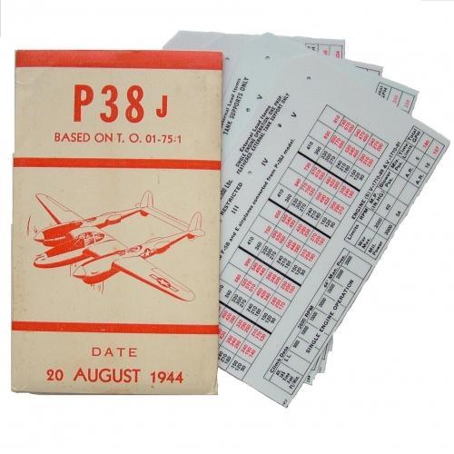 USAAF P-38 Aircraft Flight Operation Cards