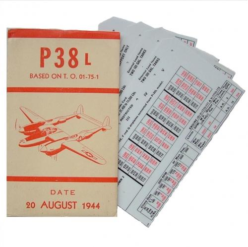 USAAF P-38 Aircraft Flight Operation Cards