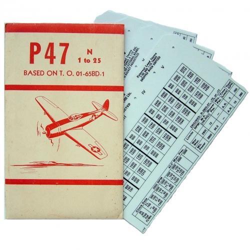 USAAF P-47 Aircraft Flight Operation Cards