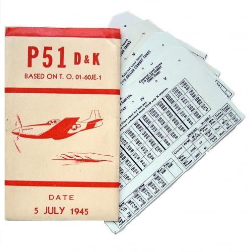USAAF P-51 Aircraft Flight Operation Cards