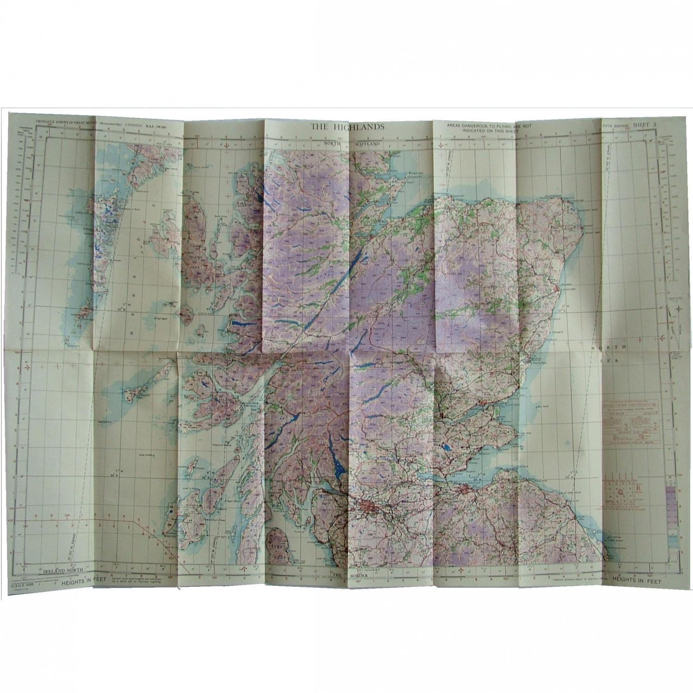 RAF Flight Map - The Highlands