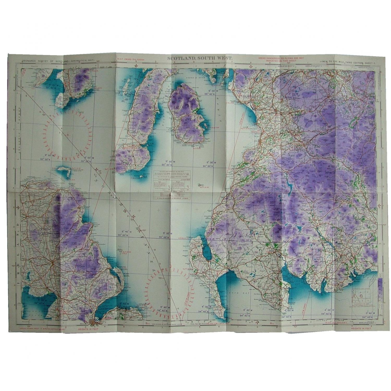 RAF Flight Map - Scotland, South West