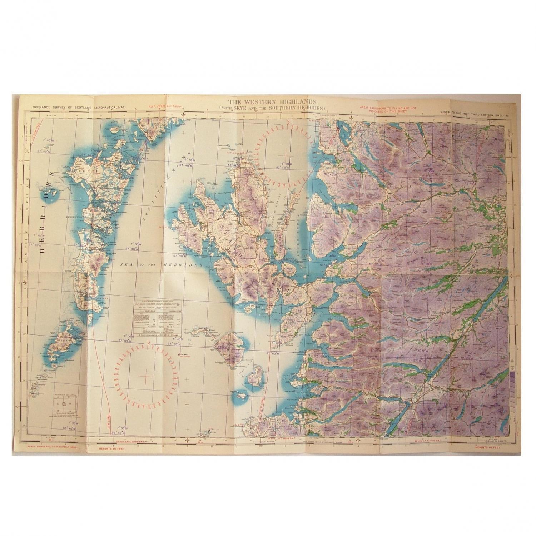 RAF Flight Map - Scotland, W. Highlands