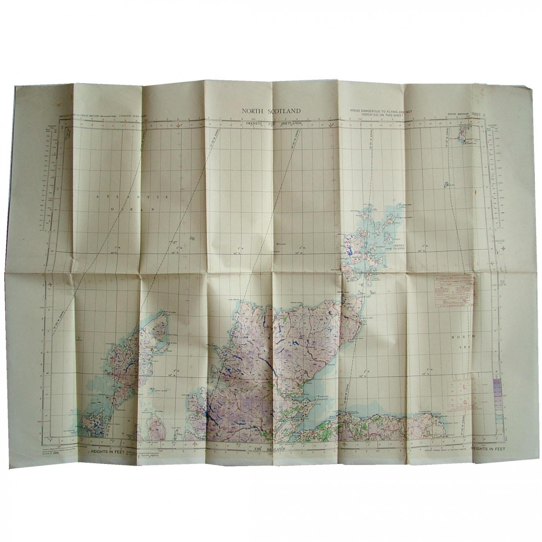 RAF Flight Map - North Scotland