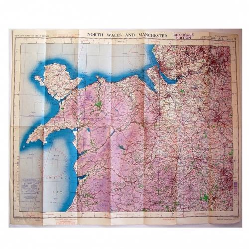 RAF Flight Map - North Wales & Manchester