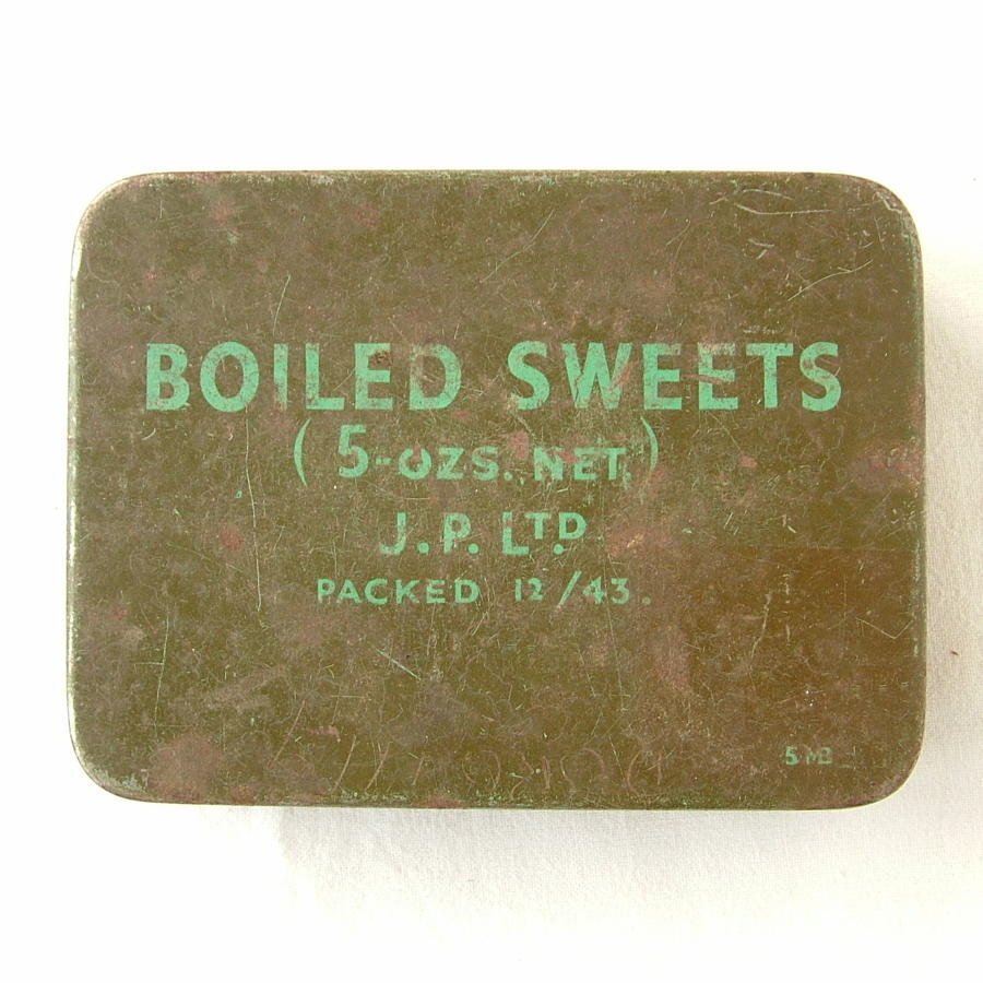 British Forces Boiled Sweet RationTin