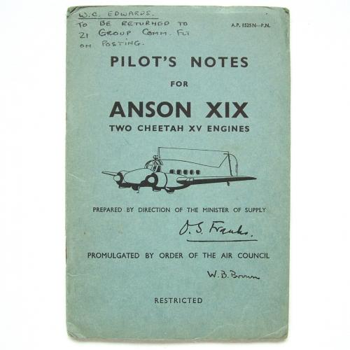 RAF Pilot's Notes : Anson XIX