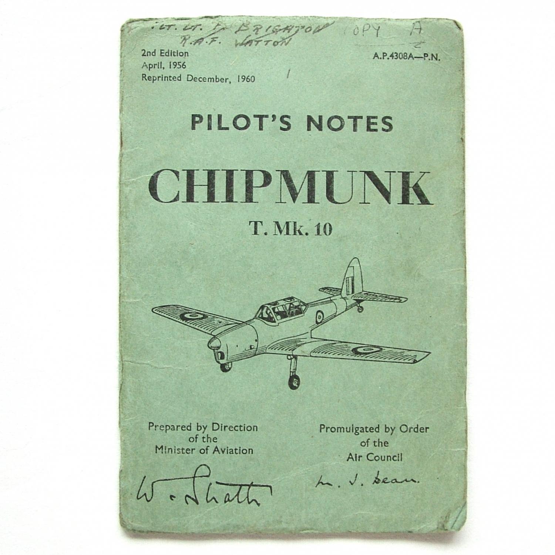 RAF Pilot's Notes : Chipmunk T.Mk.10