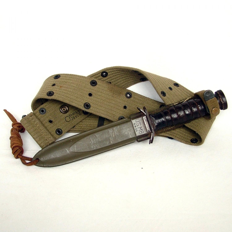 USAAF 'Used' M-3 Fighting Knife & Belt
