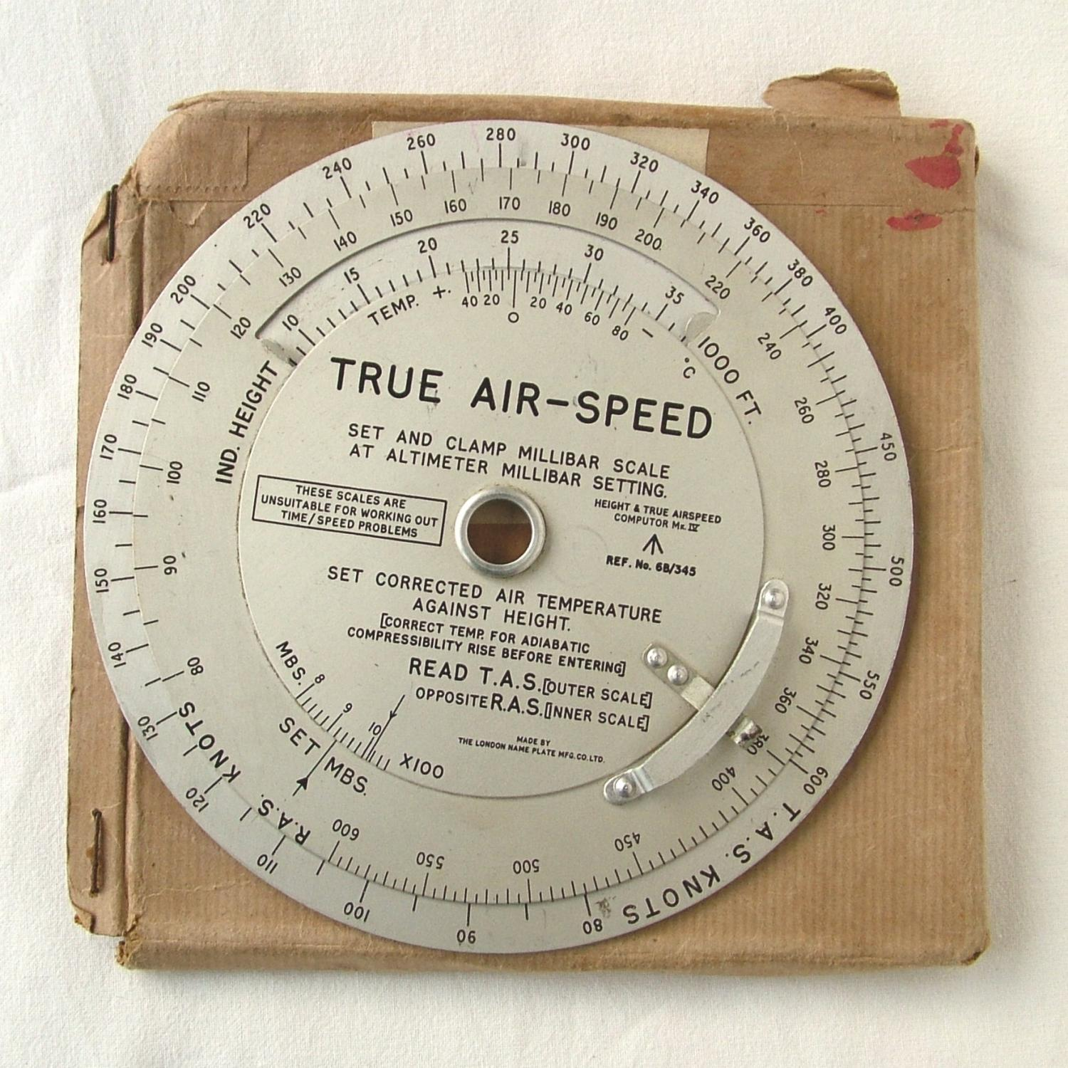 RAF Computor, Height And True Airspeed