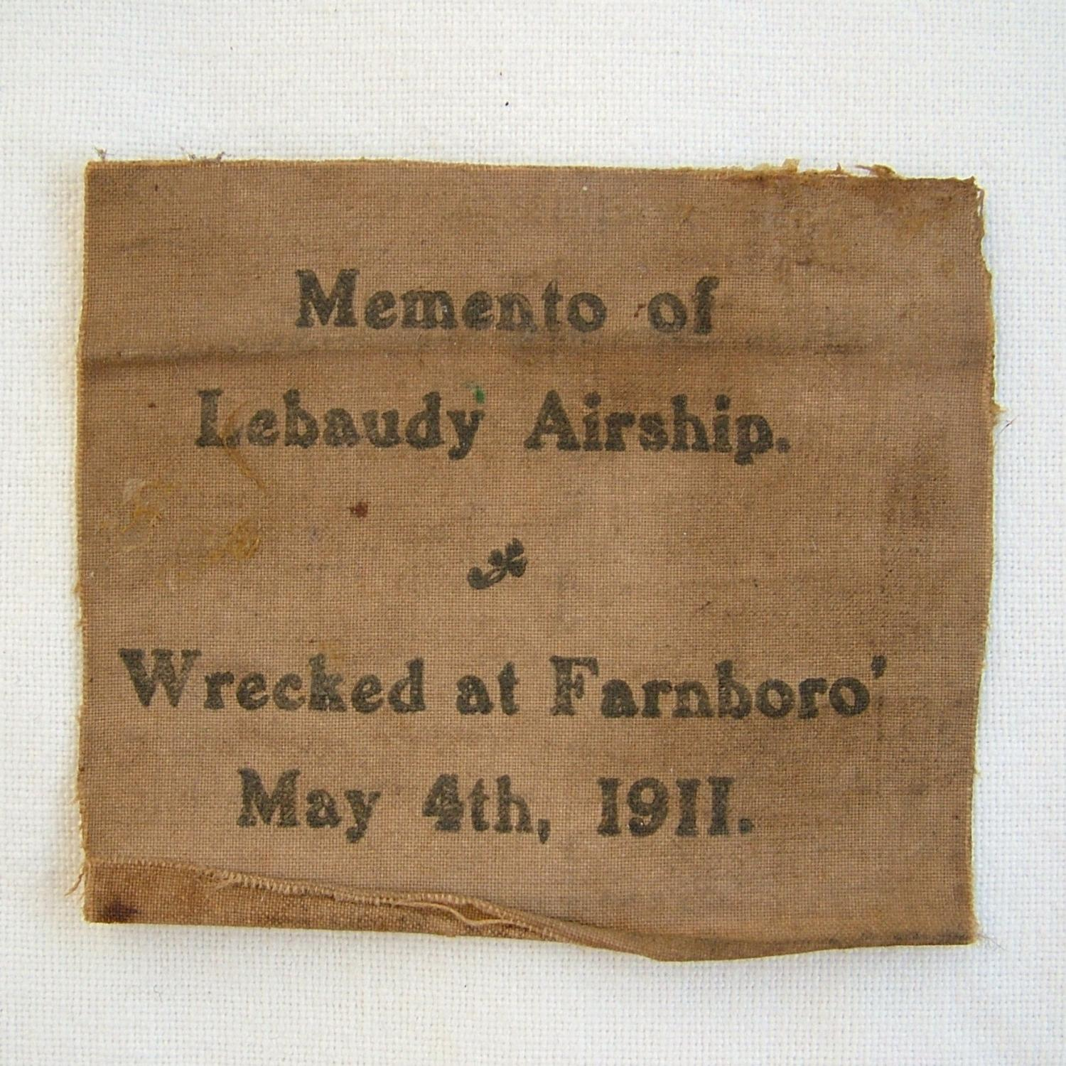 Fabric From LeBaudy Airship Crashed c.1911