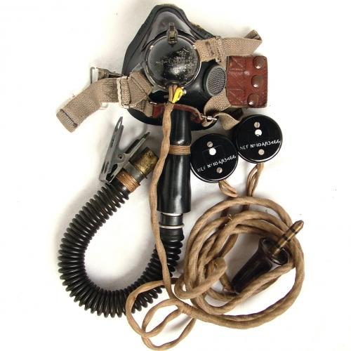 RAF Type E* Oxygen Mask, Tube & Wiring