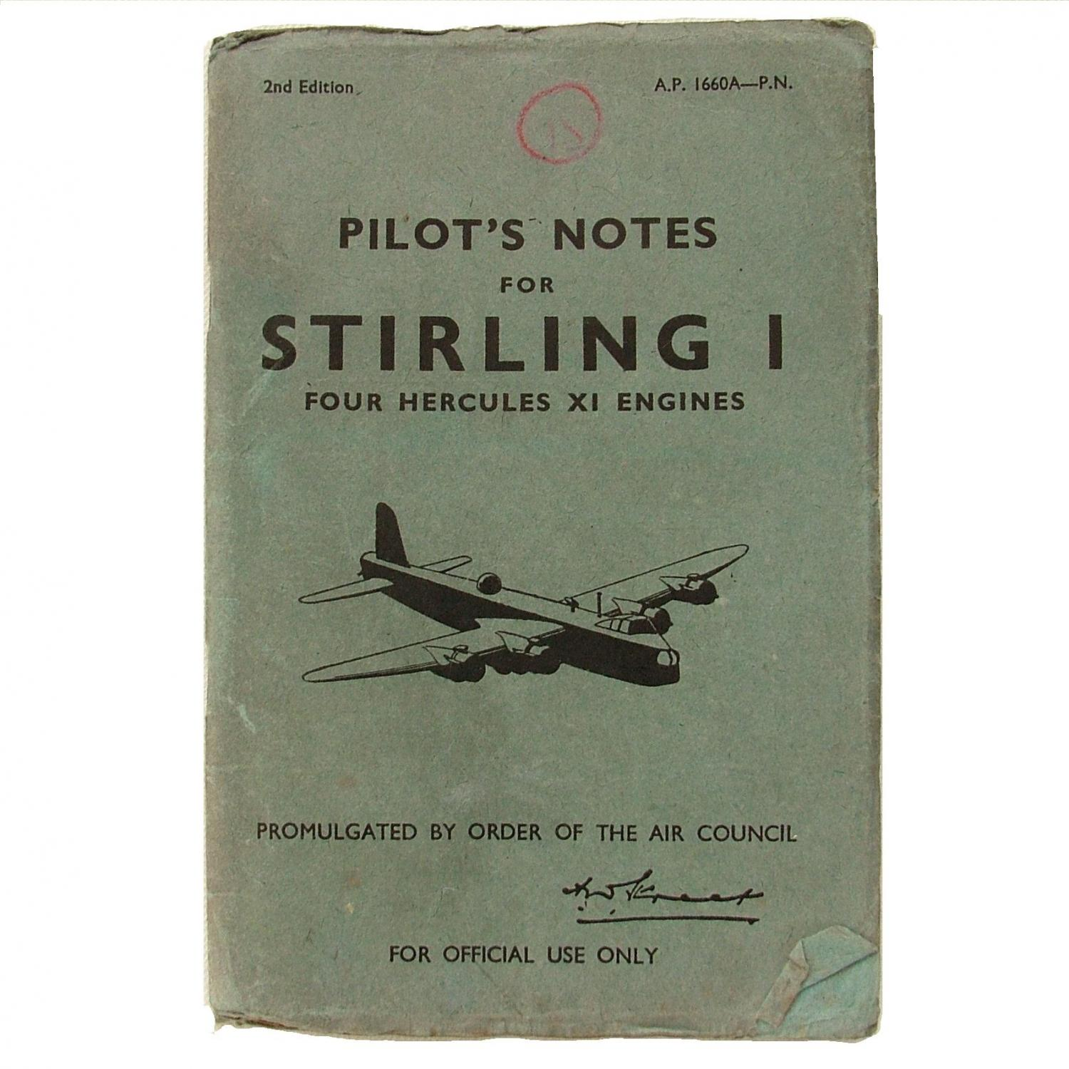 R.A.F. Pilot's Notes : Stirling I