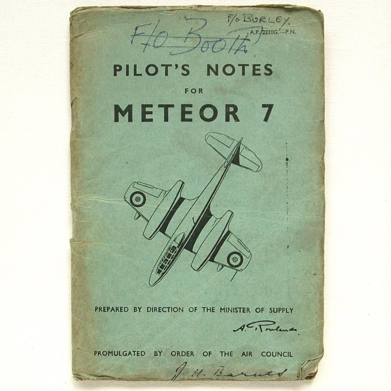 RAF Pilot's Notes : Meteor 7