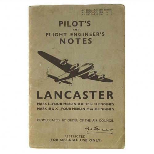 RAF Pilot's Notes : Lancaster I, III & X