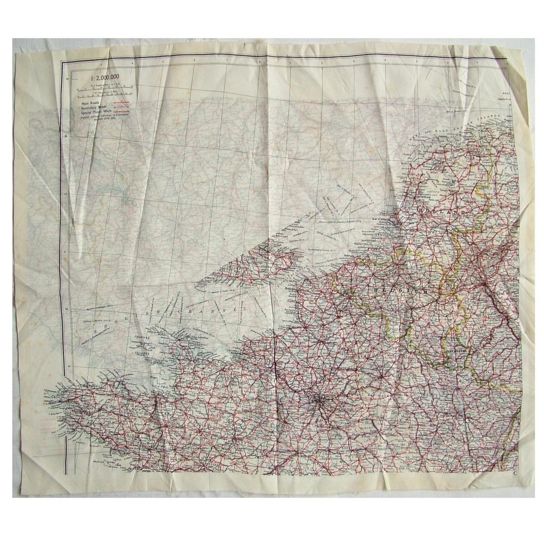 RAF Escape & Evasion Map - European