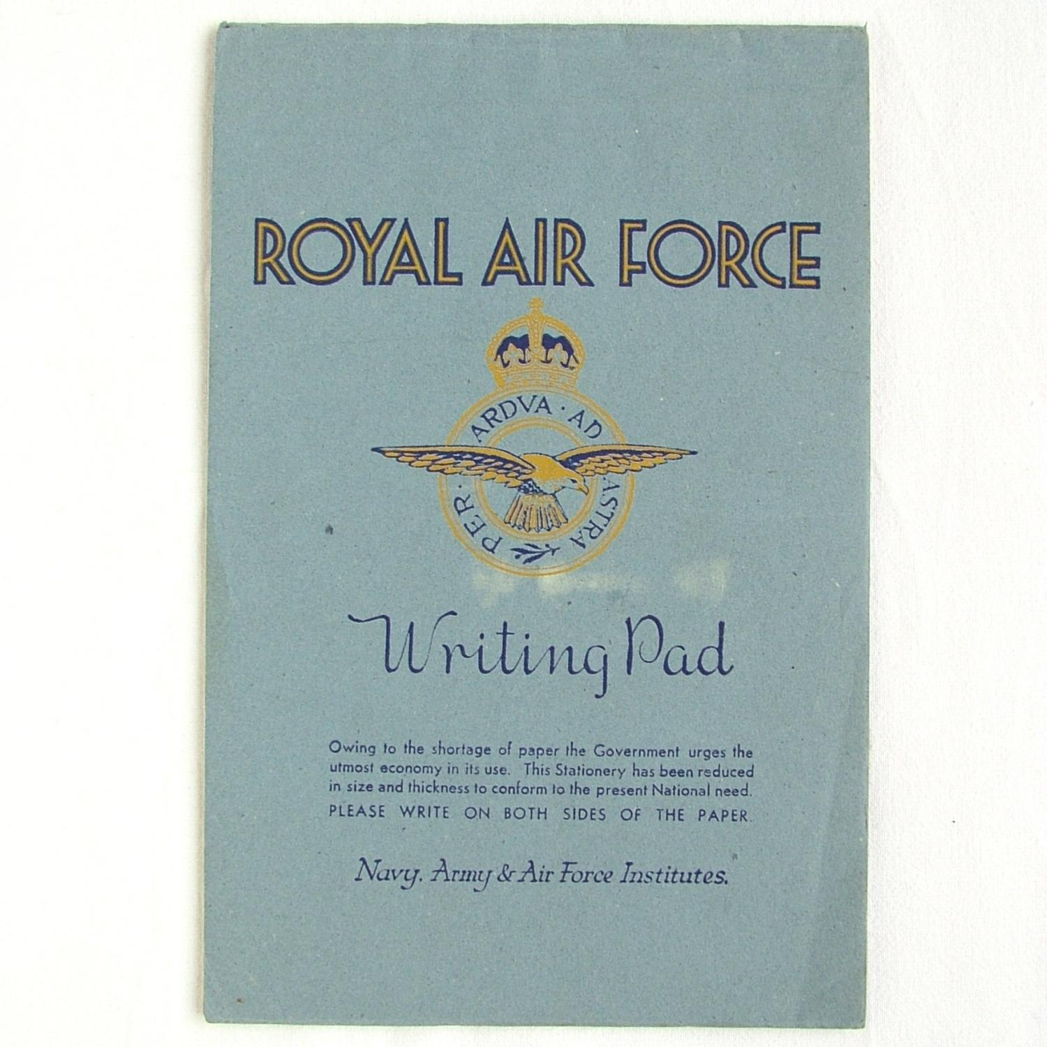 RAF Writing Pad