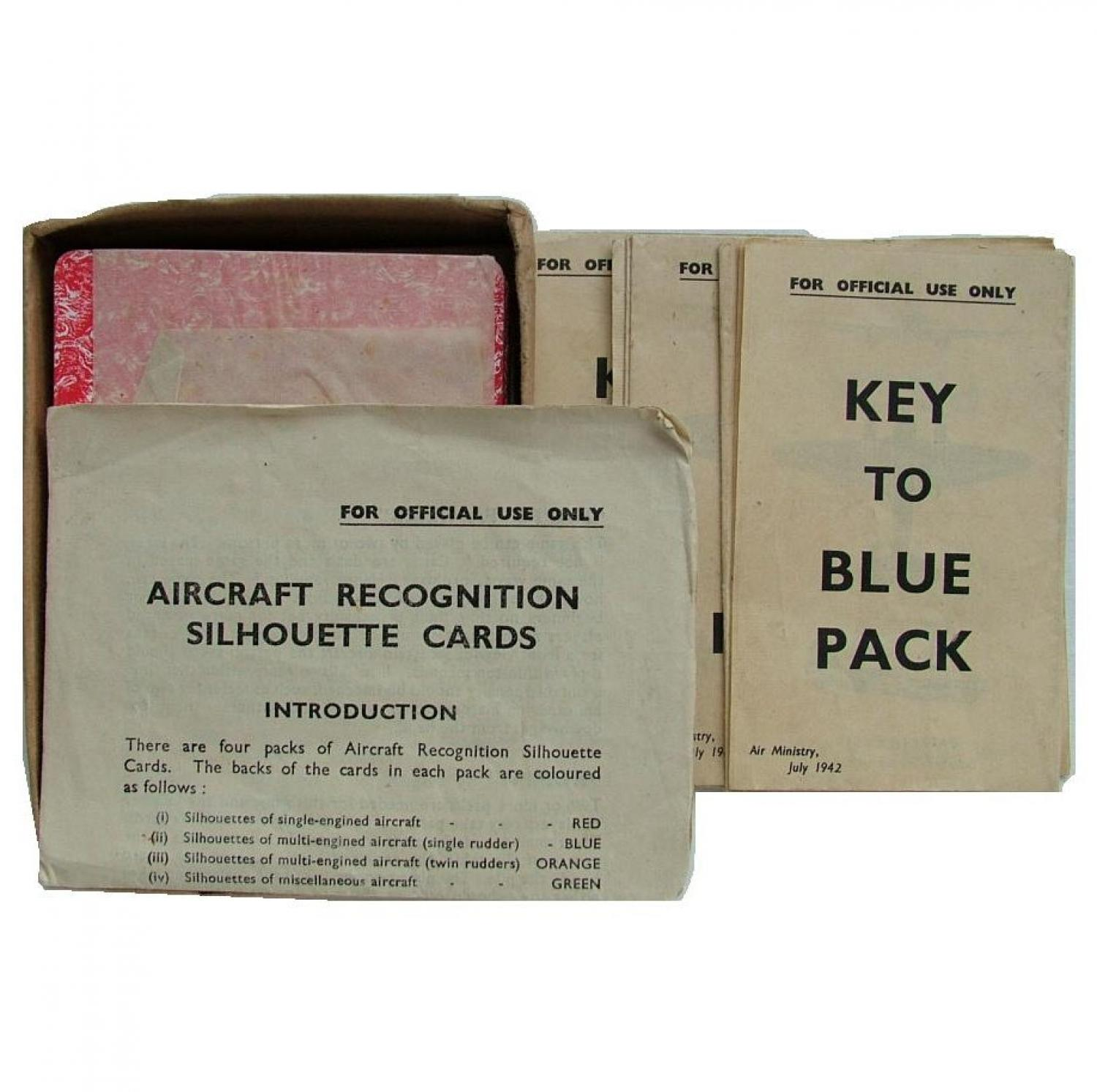 RAF Recognition Cards - Full Set, 1942