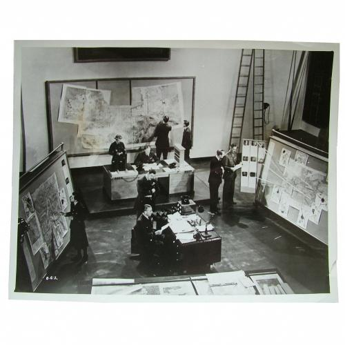 RAF Press Photo, 'Ops' Room, High Wycombe