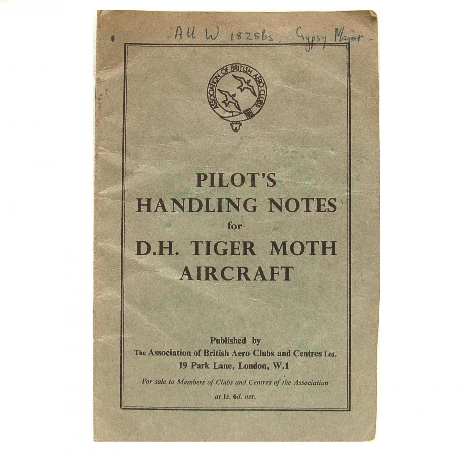 Pilot's Handling Notes - Tiger Moth
