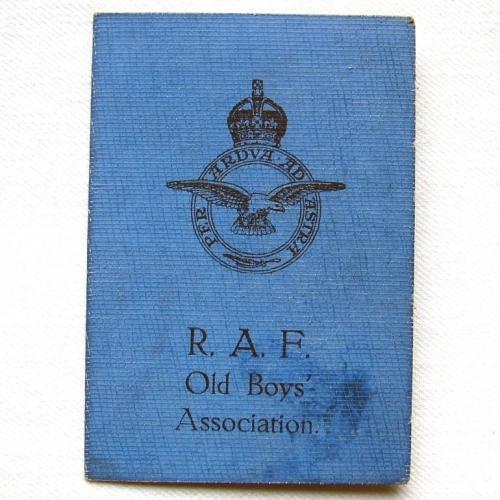 RAF Old Boys Association Card