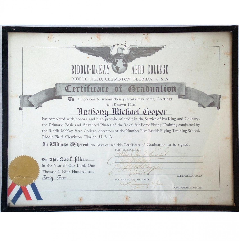 RAF Flying Training School Certificate