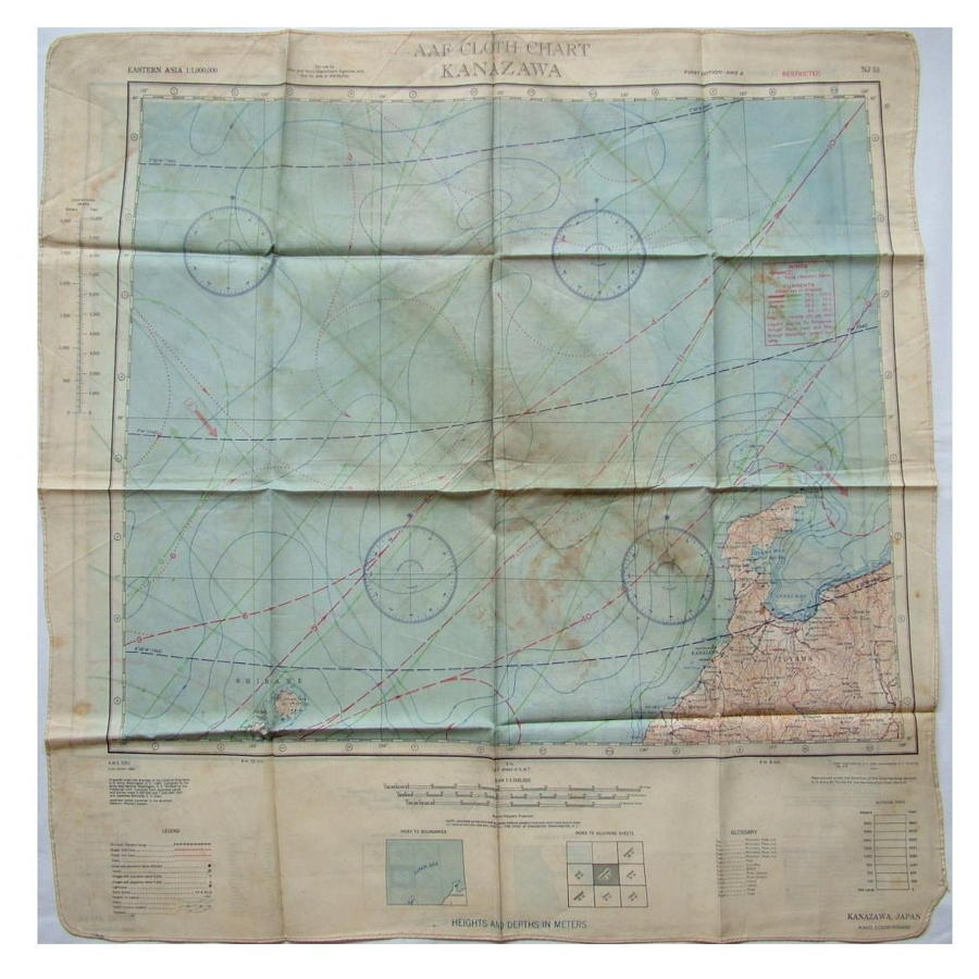 USAAF Escape & Evasion Map