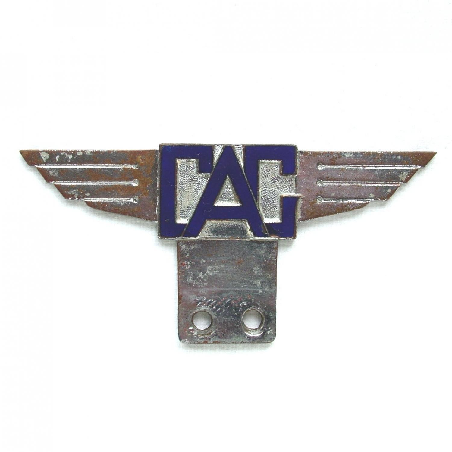 Civil Air Guard Car Badge