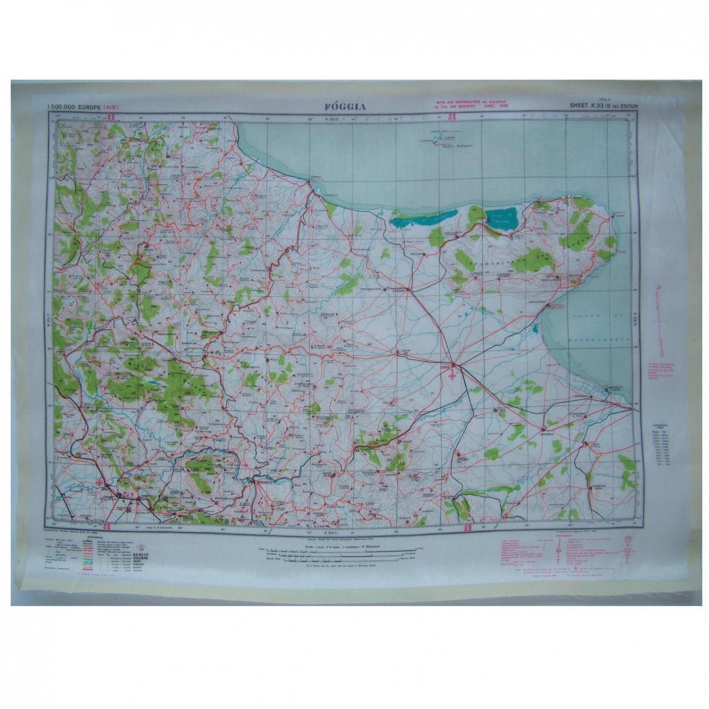 RAF Escape & Evasion Map - Italy
