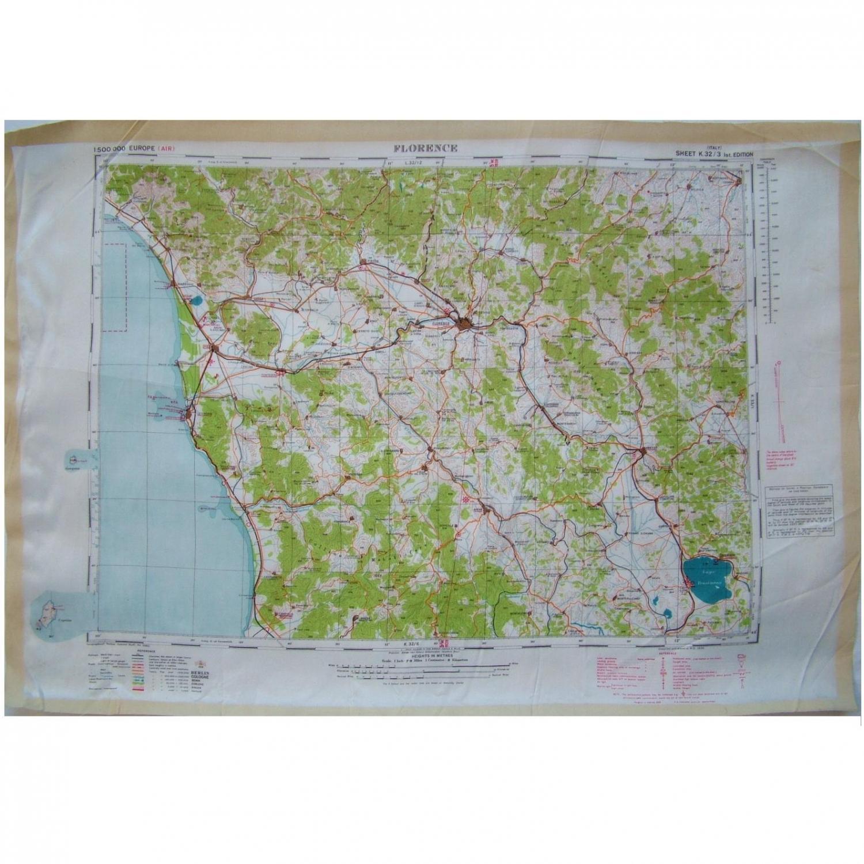 RAF Escape & Evasion Map - Florence