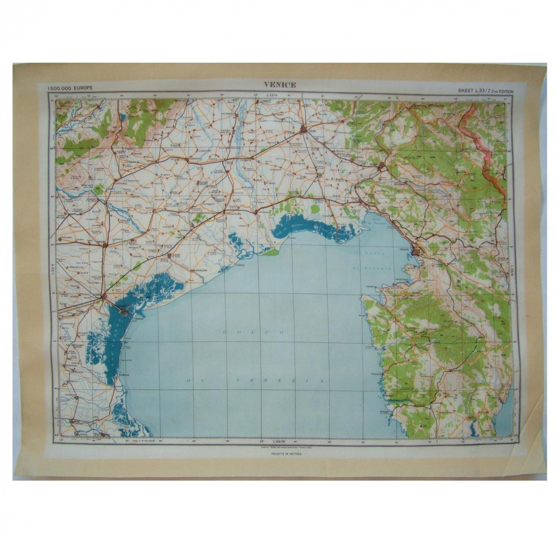 RAF Escape & Evasion Map - Venice