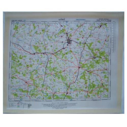 RAF Escape & Evasion Map - Poland
