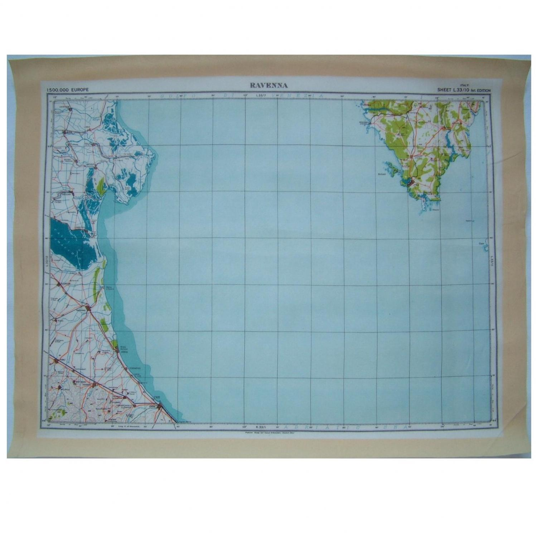 RAF Escape & Evasion Map - Ravenna