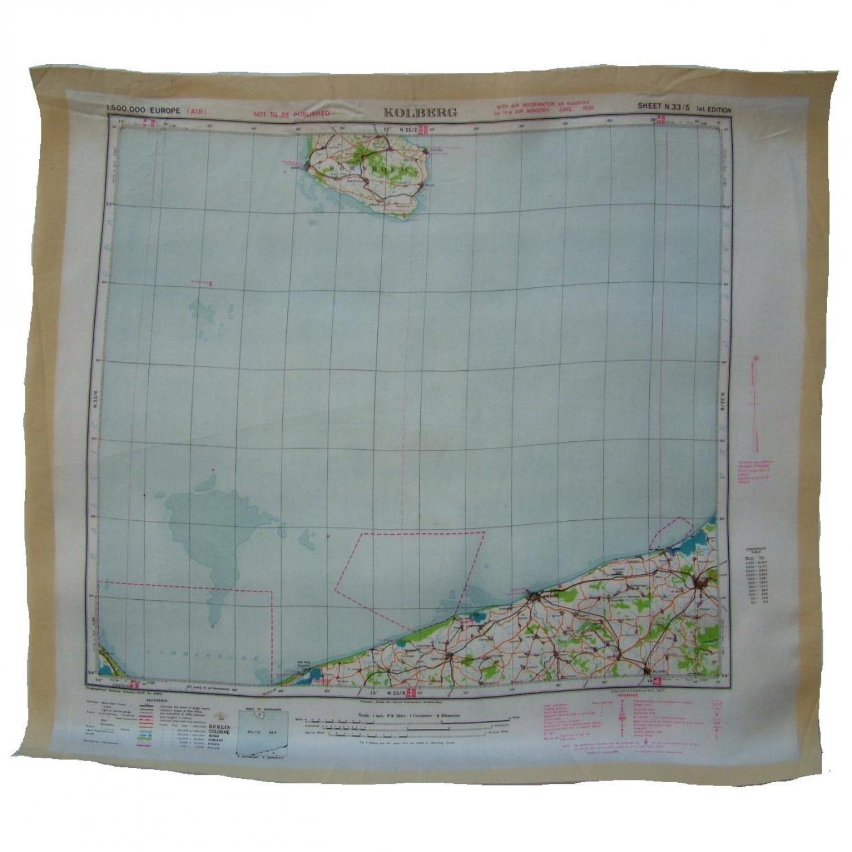 RAF Escape & Evasion Map - Kolberg