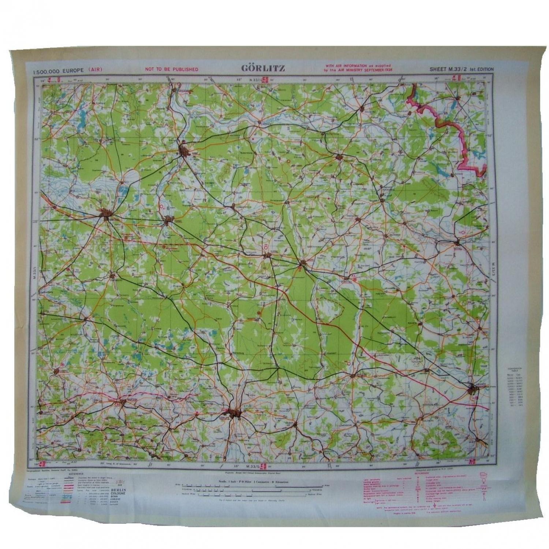 RAF Escape & Evasion Map - Gorlitz
