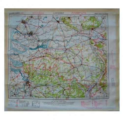 RAF Escape & Evasion Map - Antwerp
