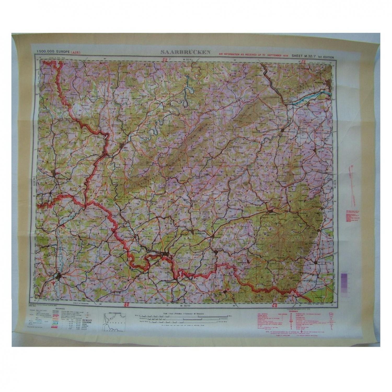 RAF Escape & Evasion Map - Saarbrucken