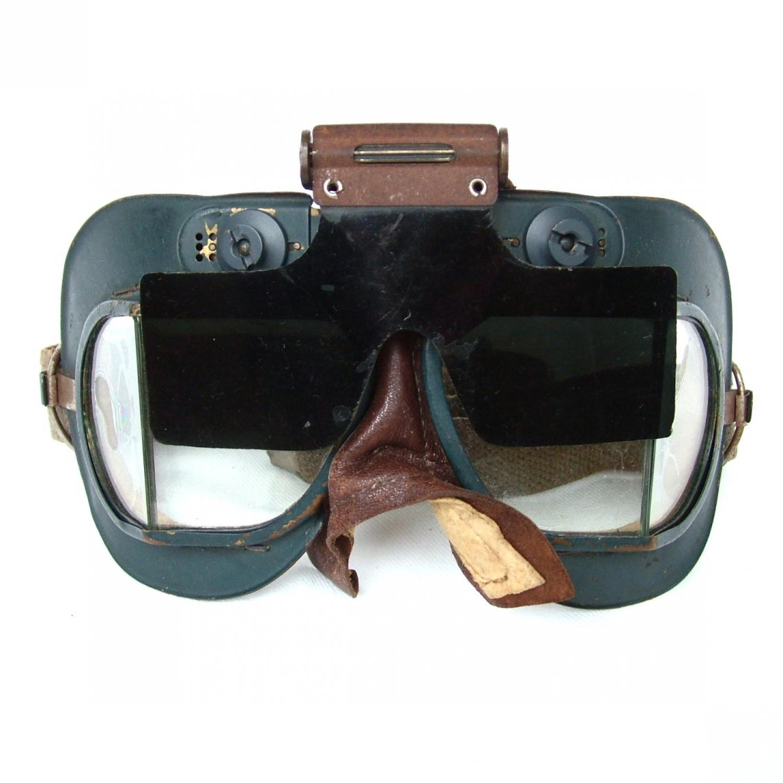 RAF MK.VII Flying Goggles & Anti-Glare Shield