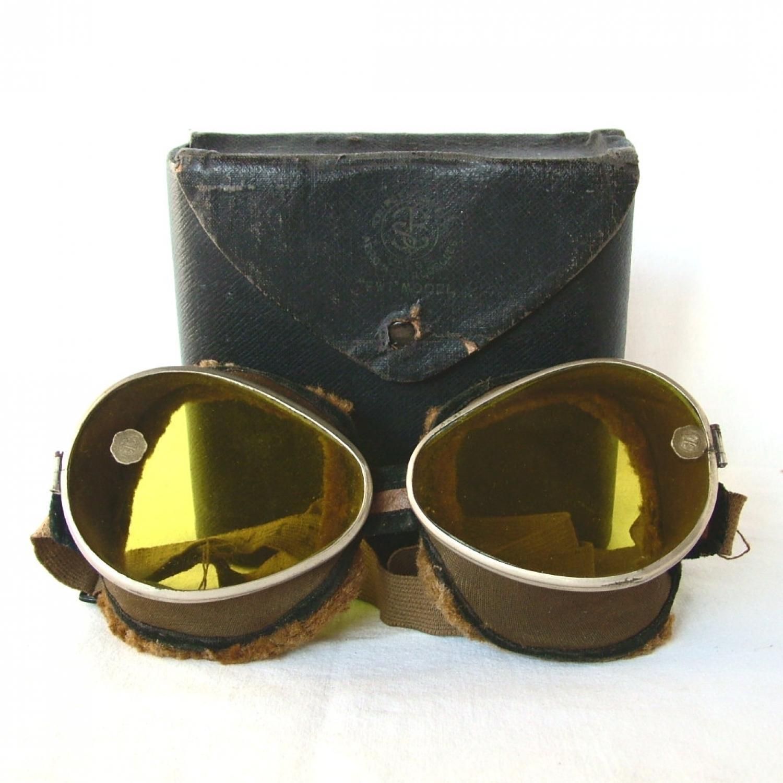 Triplex FWT Model Flying Goggles, Cased
