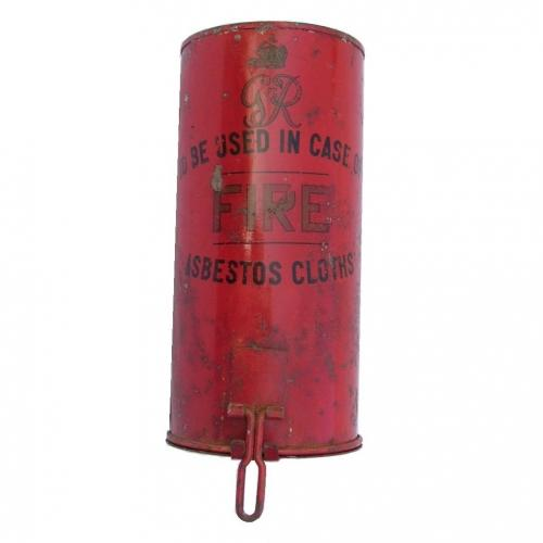 1930s Fire Blanket Container